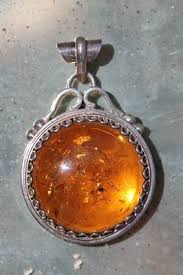 amber necklace pendant images Large vintage 925 sterling silver baltic honey amber pendant jpg