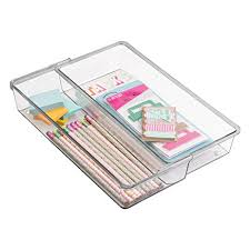 Expandable Desk Drawer Organizer Mdesign Expandable Desk Drawer Organizer For Office