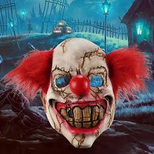 Clown Halloween Costume Face Scary Clown Mask Latex Halloween Costume Evil Creepy