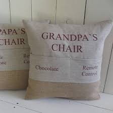 personalised pocket cushion chair pockets country crafts and