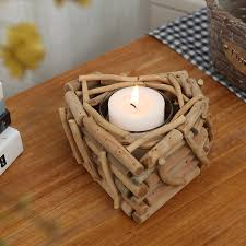 modern handmade wooden candle holders with candle wood crafts