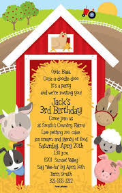 farm themed birthday invitations marialonghi