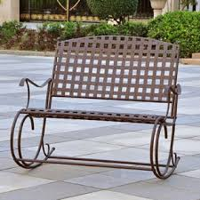 international caravan mandalay iron double rocker bench free