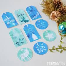 free printable christmas gift tags in turquoise teal and green