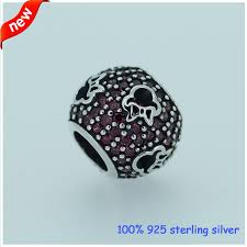 silver bead bracelet diy images Fits pandora bracelet belle enchanted rose silver beads with red jpg