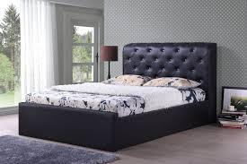 bedroom leather bedsteads king size leather upholstered bed