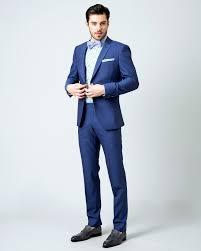 costume bleu mariage costume sur mesure en toile et mohair bleu 120 s 1