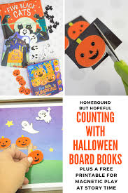Free Printable Halloween Books by Counting With Halloween Board Books At Story Time