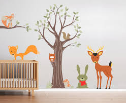 wandtattoos für kinderzimmer wandtattoo kindergarten kindertattoos wald tiere wall decals