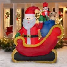 Outdoor Inflatables Airblown Santa Sleigh With Gifts 7 5ft