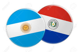 Argentina Flag Photo News Concept Argentina Flag Button On Paraguay Flag Button