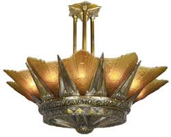 Glass Shade Chandelier Vintage Hardware U0026 Lighting Art Deco And Art Nouveau Lighting
