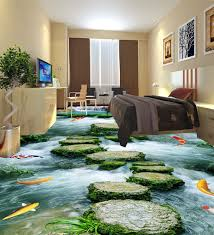 3d floor design bathroom fantastic large font 3d font wall stickers stone path