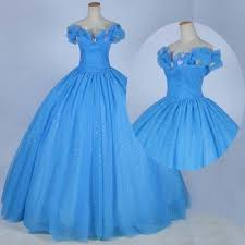 blue quincea era dresses cinderella prom quinceanera dress blue gown the