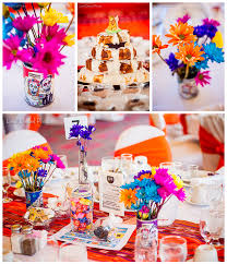 day of the dead wedding wedding reception colorful friday the 13th day of the dead theme