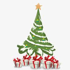 cartoon christmas tree material cartoon christmas tree vector