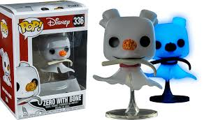 the nightmare before zero with bone funko pop vinyl