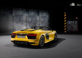 Audi R8 Yellow - audi r8 spyder to make global debut at the new york international
