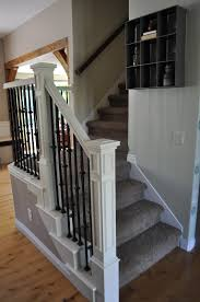 Painting A Banister White I Am Momma Hear Me Roar Stair Makeover With Annie Sloan Paint