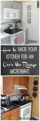 hack your kitchen for an over the range microwave kitchen update