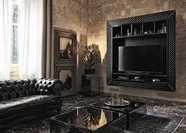 contemporary tv wall unit wooden napoleon fiam italia