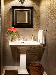 wallpapered bathrooms ideas 18 tiny bathrooms that pack a punch graphic wallpaper small