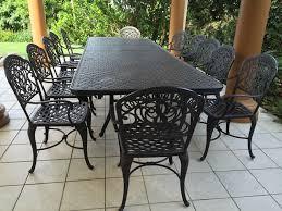 Black Cast Aluminum Patio Furniture Luxury Quality U0027hanamint U0027 Cast Aluminum Outdoor Black Dining Table