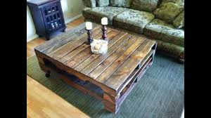 Wood Pallet Furniture Pallet Wood Coffee Table Recycled Wood Pallets Furniture Youtube