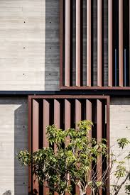 box framed louvres shade board marked concrete house in tel aviv