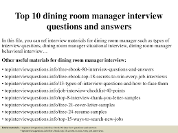 dining room manager salary top 8 dining room manager resume