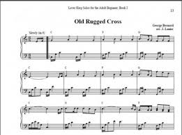 The Old Rugged Cross Music Old Rugged Cross For Harp Easy Version Janet Lanier