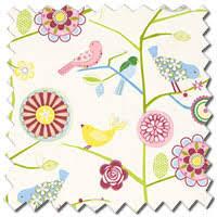 Blackout Nursery Curtains Uk Birds Flowers Yellow Blue Pink Blackout Nursery Curtains
