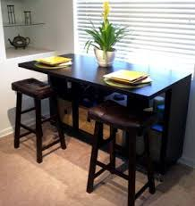 Ikea Bar Table And Stools A Counter Height Eating Area That Also Serves As A Desk Work And