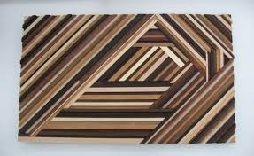 wall design ideas triangles chevron abstract wood wall