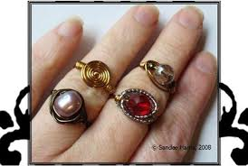 make wire rings images How to make wire wrapped rings with stones jpg