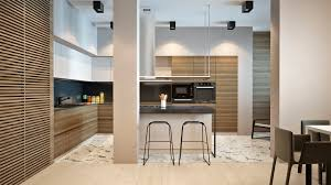 wood slat kitchen interior design ideas