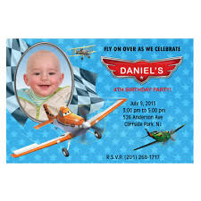 disney planes birthday party photo invitations printable file