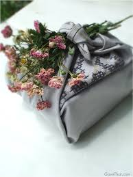 Japanese Gift Ideas Mam For Gavethat Furoshiki Gift Wrap Look Using Dried Flowers And