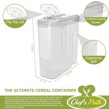 Storage Containers For Flour Chef U0027s Path Cereal Storage Container Set U2013 100 Airtight Best Dry