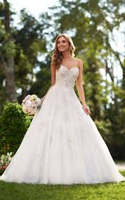 silver wedding dresses silver lace wedding dress stella york wedding dresses