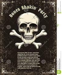 vector skull frame poster template stock vector image 47502524
