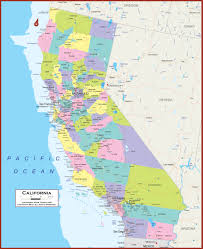 California Zip Code Map by California State Map California Map