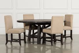 5 Chair Dining Set Jaxon 5 Dining Set W Upholstered Chairs Living Spaces