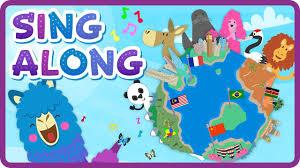 travel around the world song in children sing