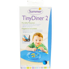 summer infant tiny diner 2 blue portable placemat 1 placemat