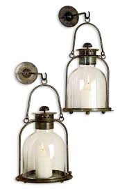 Candle Sconce Alta Vista Pair Lime Wash Candle Sconce Lantern Kathy Kuo Home