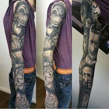 wicked cool tattoo inspired by the nightmare before christmas