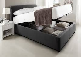 new beds serenity upholstered ottoman storage bed new grey storage beds