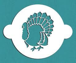 thanksgiving turkey stencil happy celebration cake design stencil