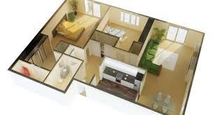 2 bedroom open floor plan 3d 3d open floor plan 3 bedroom 2
